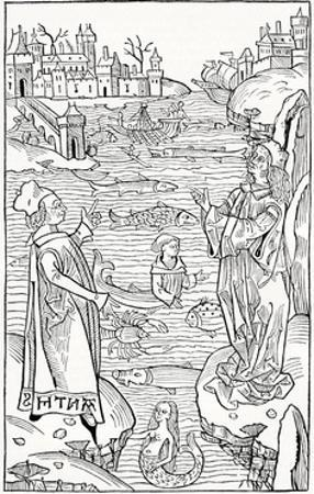 15th Century German Woodcut Print by CCI Archives