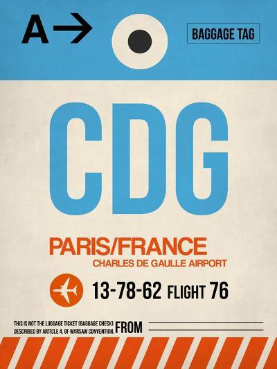 CDG Paris Luggage Tag 2-NaxArt-Art Print