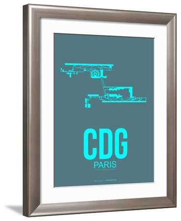Cdg Paris Poster 1-NaxArt-Framed Art Print
