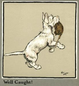 Rags the Puppy Catches a Rat by Cecil Aldin