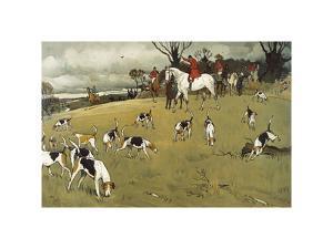 The Fallowfield Hunt, The Check by Cecil Aldin