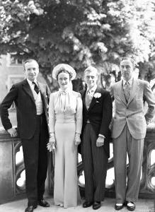 Cecil Beaton, the Duchess of Windsor, the Duke of Windsor and Edward Dudley Metcalfe, England by Cecil Beaton