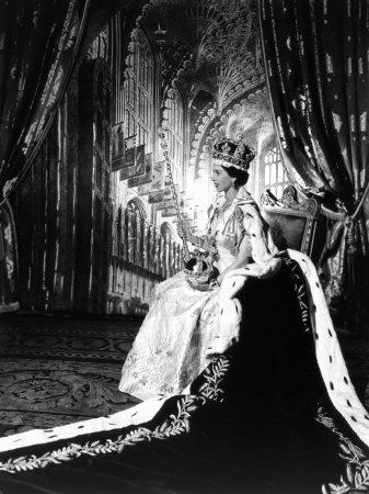 Coronation Portrait of Elizabeth II, Born 21 April 1926
