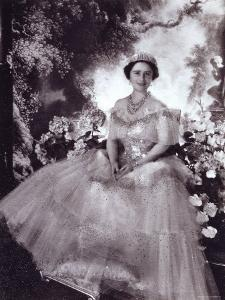 Her Majesty Queen Elizabeth, the Queen Mother, in Tiara and Gown, 4 August 1900 - 30 March 2002 by Cecil Beaton