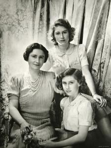 Her Majesty Queen Elizabeth the Queen Mother, Princess Elizabeth and Princess Margaret by Cecil Beaton