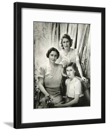 Her Majesty Queen Elizabeth the Queen Mother, Princess Elizabeth and Princess Margaret