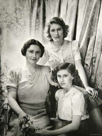 Her Majesty Queen Elizabeth the Queen Mother, Princess Elizabeth and Princess Margaret