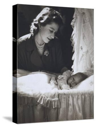 Her Royal Highness the Princess Elizabeth with Her First Child, Prince Charles, England
