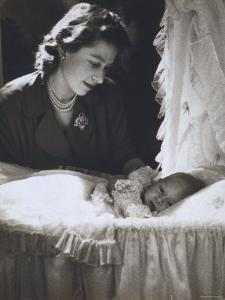 Her Royal Highness the Princess Elizabeth with Her First Child, Prince Charles, England by Cecil Beaton