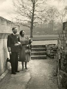 King George VI and the Her Majesty Queen Elizabeth the Queen Mother Taking a Stroll, England by Cecil Beaton