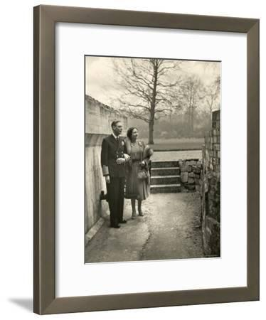 King George VI and the Her Majesty Queen Elizabeth the Queen Mother Taking a Stroll, England
