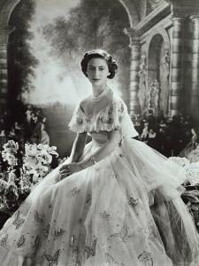 Portrait of Princess Margaret in Ballgown, Countess of Snowdon, 21 August 1930 - 9 February 2002 by Cecil Beaton