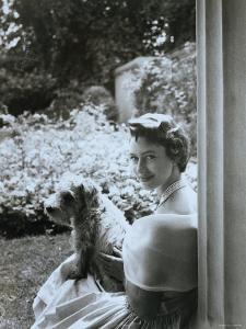 Portrait of the Late Princess Margaret with Her Dog by Cecil Beaton