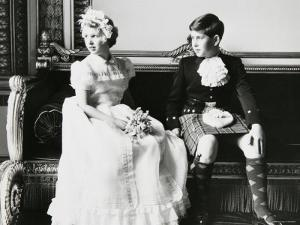Princess Anne and Prince Andrew as Children at a Wedding, England by Cecil Beaton