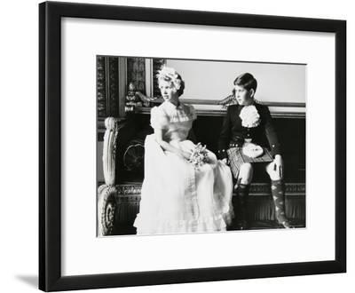 Princess Anne and Prince Andrew as Children at a Wedding, England