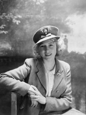 Princess Elizabeth, Seen in Photograph at 16 Years Old, England