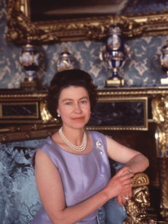 Queen Elizabeth II at Buckingham Palace, London, England