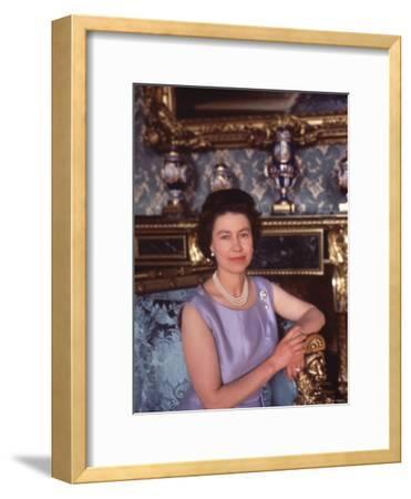 Queen Elizabeth II at Buckingham Palace, London, England
