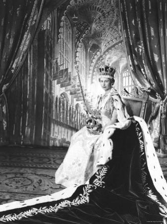 Queen Elizabeth II in Coronation Robes, England