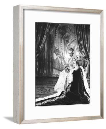 Queen Elizabeth II in Coronation Robes, England