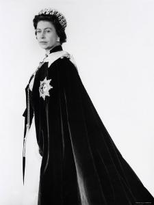 Queen Elizabeth II in Robes and Wearing the Order of the Garter, England by Cecil Beaton