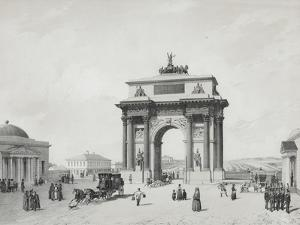 The Triumphal Arch at the Tver Gates in Moscow, 1840s by Cecil Beaton