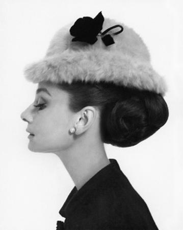 Vogue - August 1964 - Audrey Hepburn in Fur Hat by Cecil Beaton