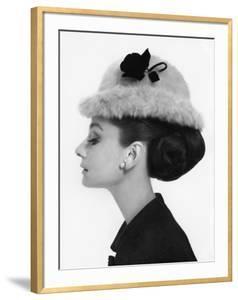 Vogue - August 1964 - Audrey Hepburn in Fur Hat by Cecil Beaton
