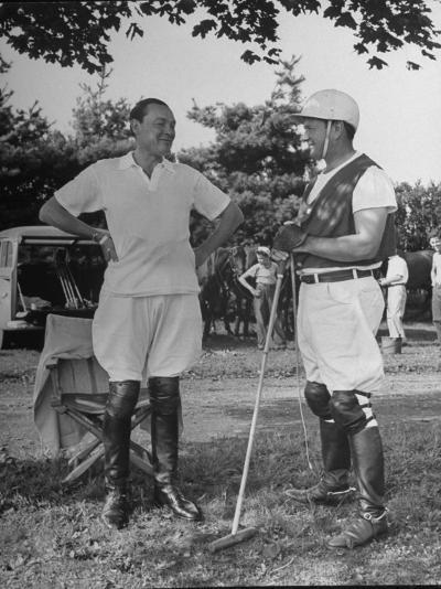 "Cecil Smith and Stephen ""Laddie"" Sanford, Talking at the American-Mexican Polo Match--Photographic Print"
