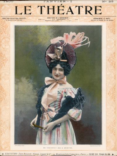 Cecile Thevenet Mezzo-Soprano, Seen Here in the Role of Musette in Leoncavallo's 'La Boheme'--Photographic Print