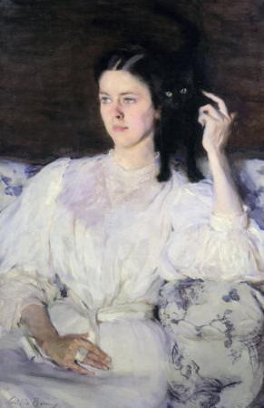 Sita and Sarita, or Young Girl with a Cat, 1893-94 by Cecilia Beaux