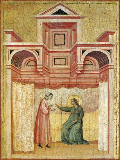 Cecilia Persuading Her Husband Valerian to Baptism--Giclee Print