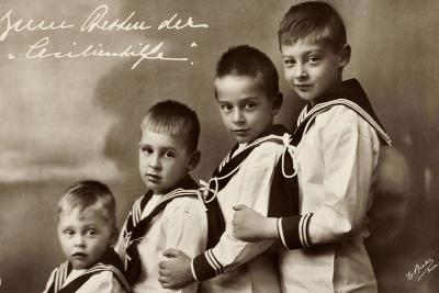Cecilienhilfe, Vier Söhne Des Kronprinzenpaares--Giclee Print
