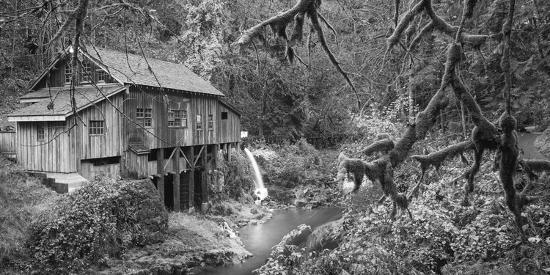 Cedar Creek Grist Mill B&W-Moises Levy-Photographic Print