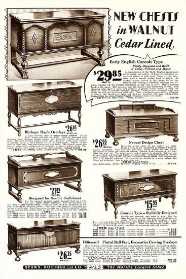 Cedar-Lined Walnut Chests--Art Print