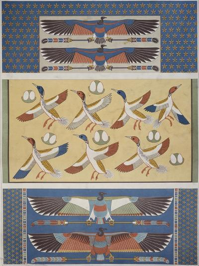 Ceiling Decorations at Thebes and Memphis--Giclee Print