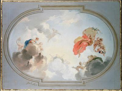 Ceiling Design Depicting the Apotheosis of Flora-Jacob De Wit-Giclee Print