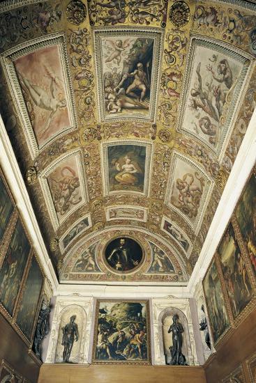 Ceiling Detail, Studiolo of Francesco I--Giclee Print