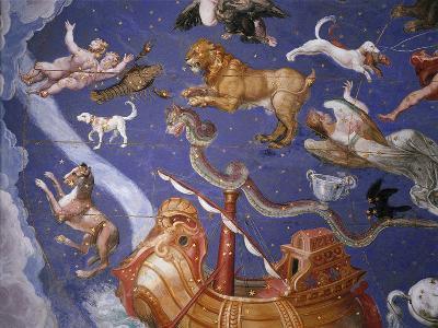 Ceiling from Sala del Mappamondo Fresco by G. De Vecchi and da Reggio--Giclee Print