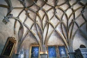 Ceiling in Gothic Style in Vladislav Hall