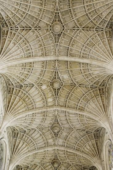 Ceiling of King's College Chapel-Design Pics Inc-Photographic Print