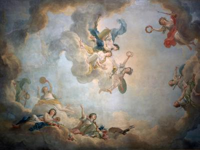 Ceiling of Marie Antoinette's Playroom, Chateau De Fontainbleau, C1763-1811-Jean Simon Berthelemy-Giclee Print