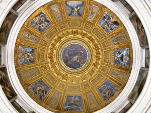 Ceiling of the Chigi Chapel, Santa Maria Del Popolo, Rome