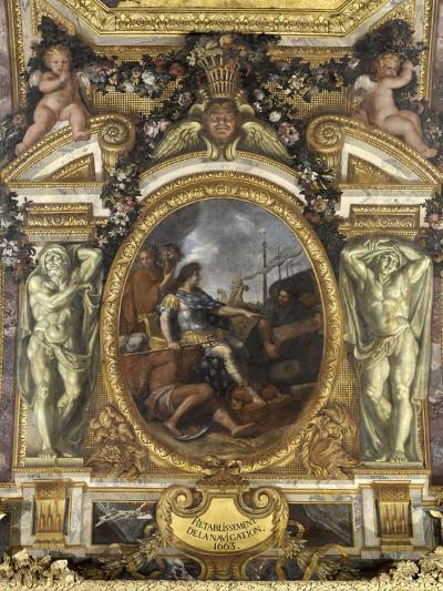 Ceiling of the Hall of Mirrors: Restoring Navigation-Charles Le Brun-Giclee Print