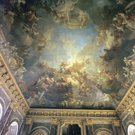 Ceiling of the Salon de Hercules at Versailles, 18th century-Francois Lemoyne-Photographic Print