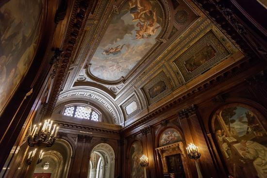 Ceiling Painting in NYPL, New York Public Library-Andrea Lang-Photographic Print