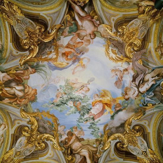 Ceiling with the Summer-Gregorio De Ferrari-Giclee Print