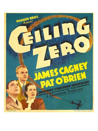 Ceiling Zero, Pat O'Brien, James Cagney, June Travis on Window Card, 1936--Photo