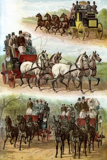 Celebrated Teams in the Park, 1887--Giclee Print