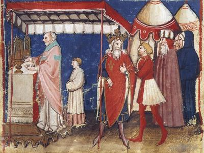 Celebrating Holy Mass for the Sovereign, Miniature, France 15th Century--Giclee Print